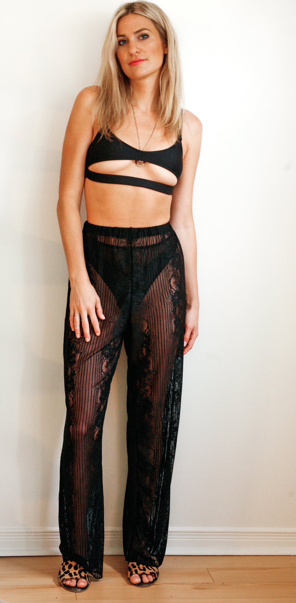 Tuluminati Sheer Lace Trousers