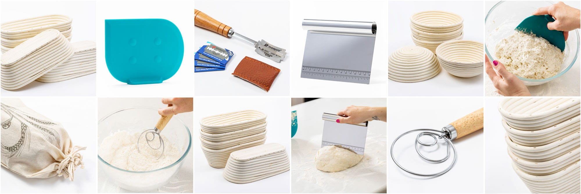 Proofing basket and other baking tools