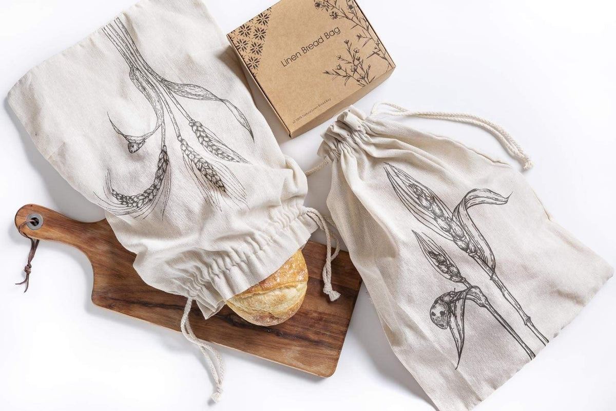 2 bread bags with craft paper gift box