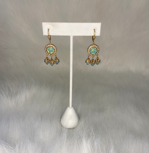 La Vie Round with Drop Earrings (Silver and Gold)