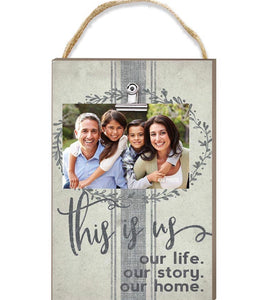 Hanging Clip Picture Frame (Multiple Sayings)