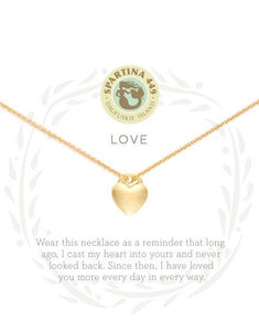 Spartina Sea La Vie Love Boxed Necklace (Gold)