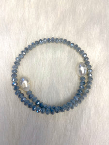 Studio G Crystal/Pearl Bracelet (Multiple Colors)