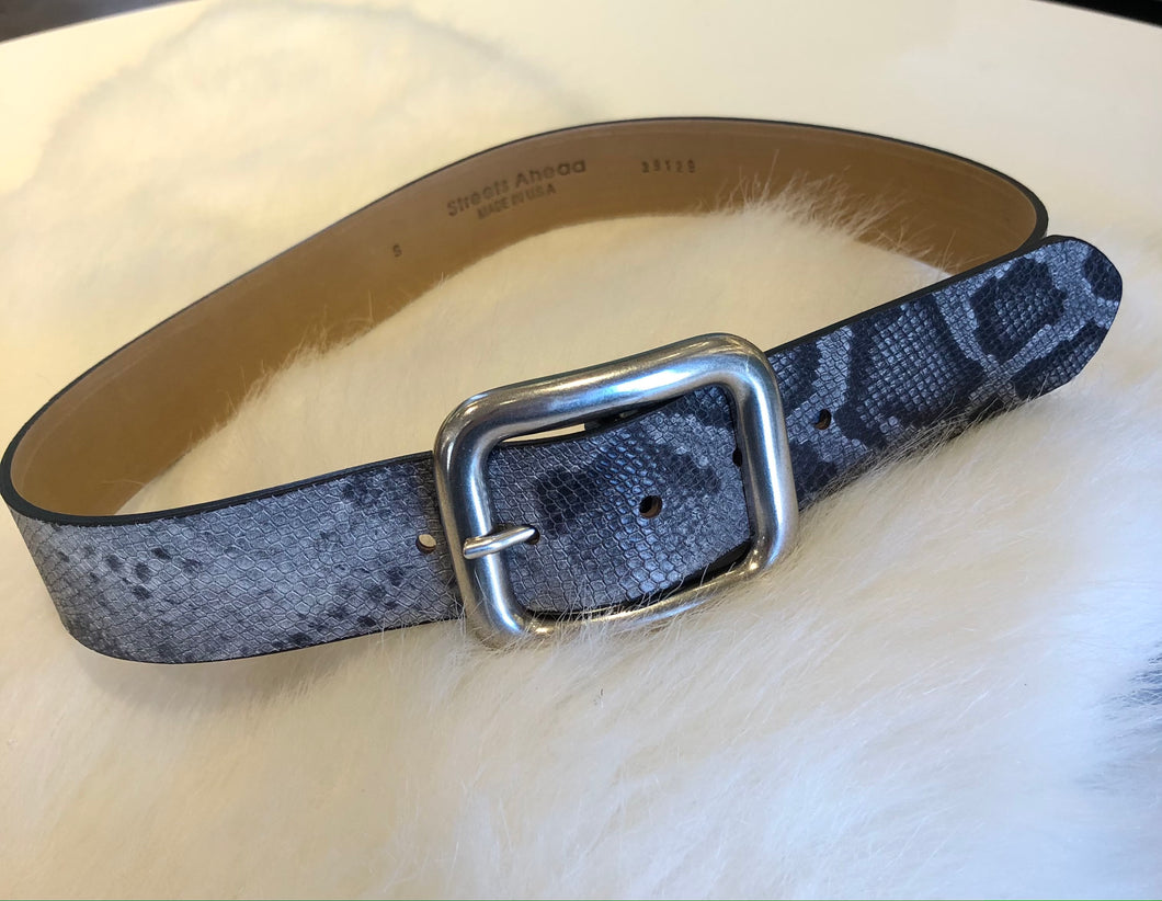 Streets Ahead Grey Snake Belt