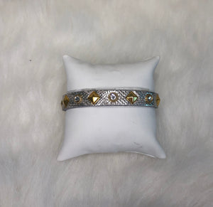 Streets  Silver and Gold Studded Bracelet