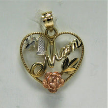 Load image into Gallery viewer, 14K Mom Charm Tri-Color Gold Charm