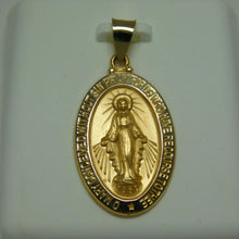 Load image into Gallery viewer, 14K Gold Miraculous Medal Pendant