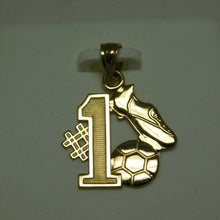 Load image into Gallery viewer, 14K Gold Soccer Pendant
