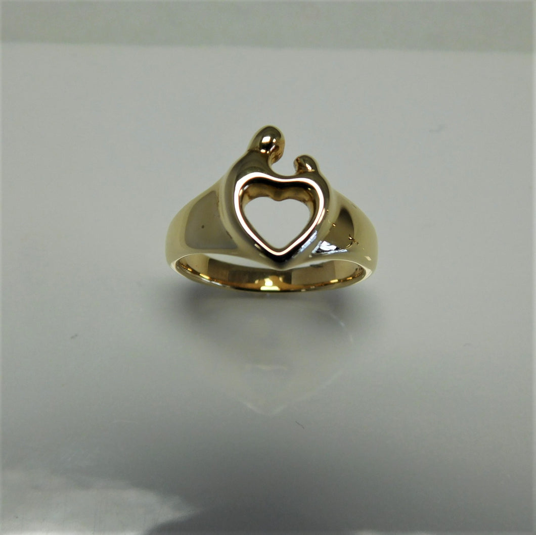 14K Mother and Child Ring