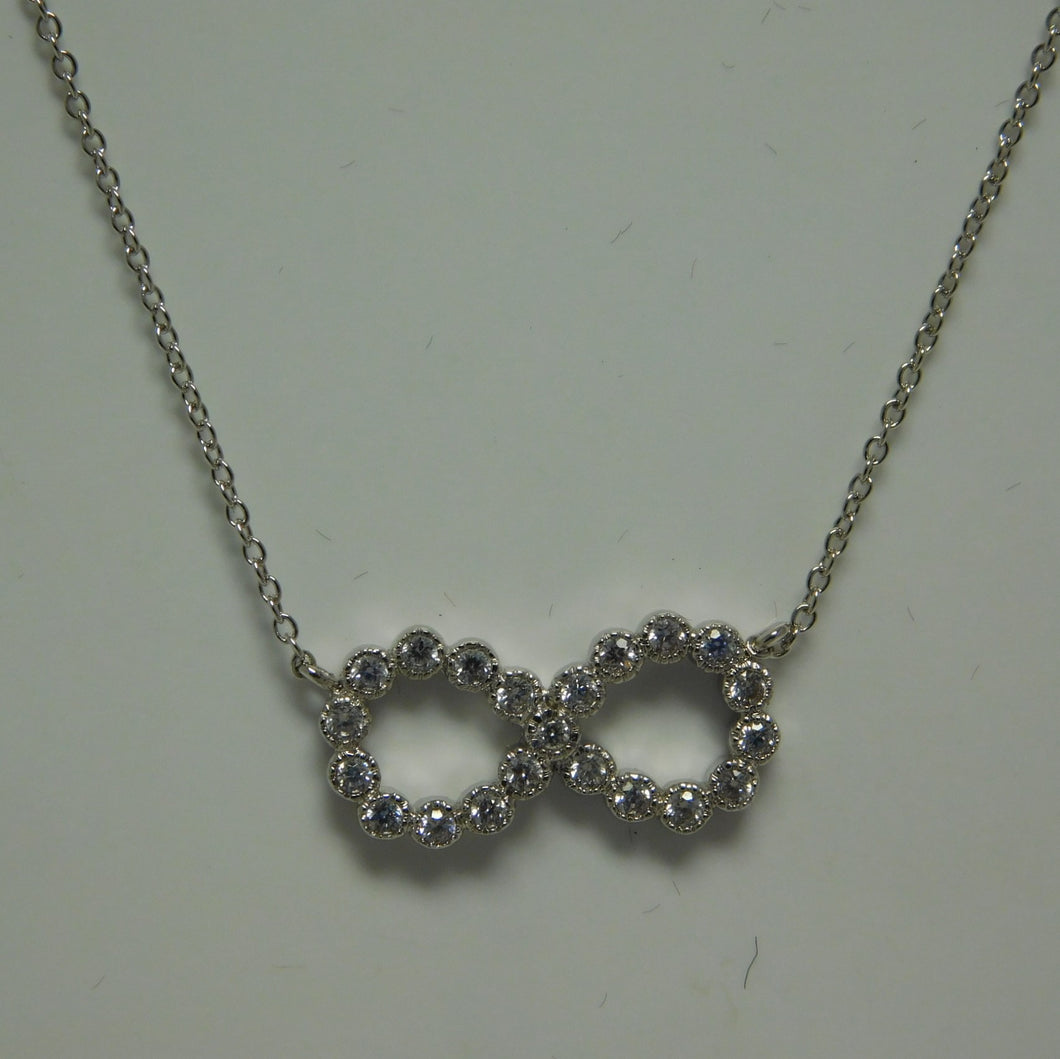 Sterling Silver Infinity SC Necklace .