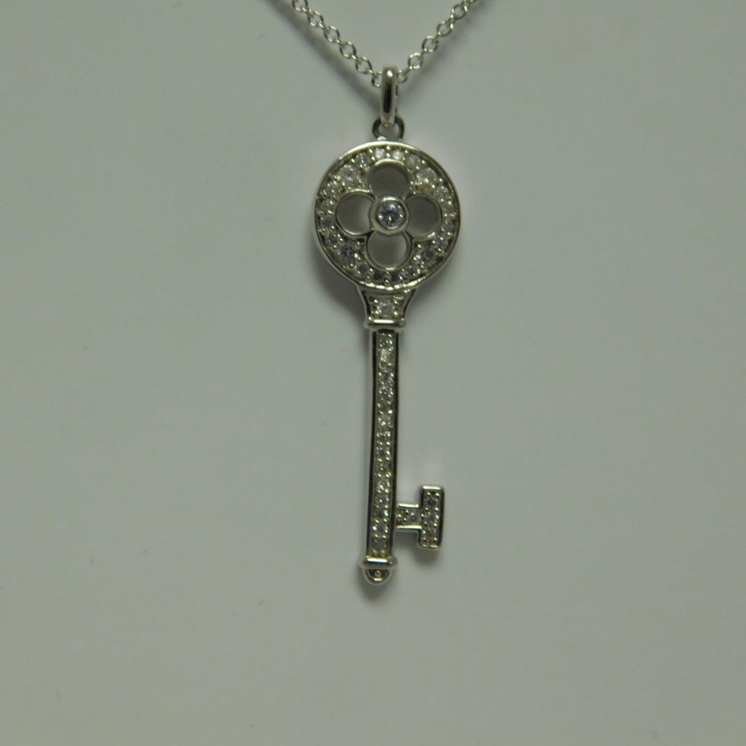 Sterling Silver Key SC Necklace