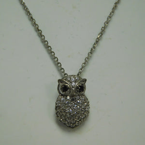 Sterling Silver Owl SC Necklace
