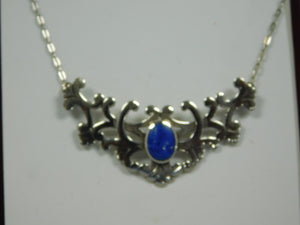 Sterling Silver Lapis Lazuli SC Necklace