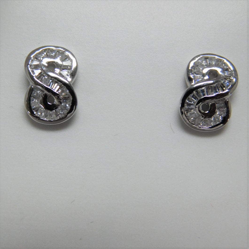 Sterling Silver Infinity Earrings.
