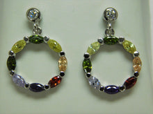 Load image into Gallery viewer, Sterling Silver Multi Stone Earring.