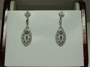 Sterling Silver Antique Replica Earrings