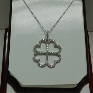 Four Heart Sterling Silver SC Necklace