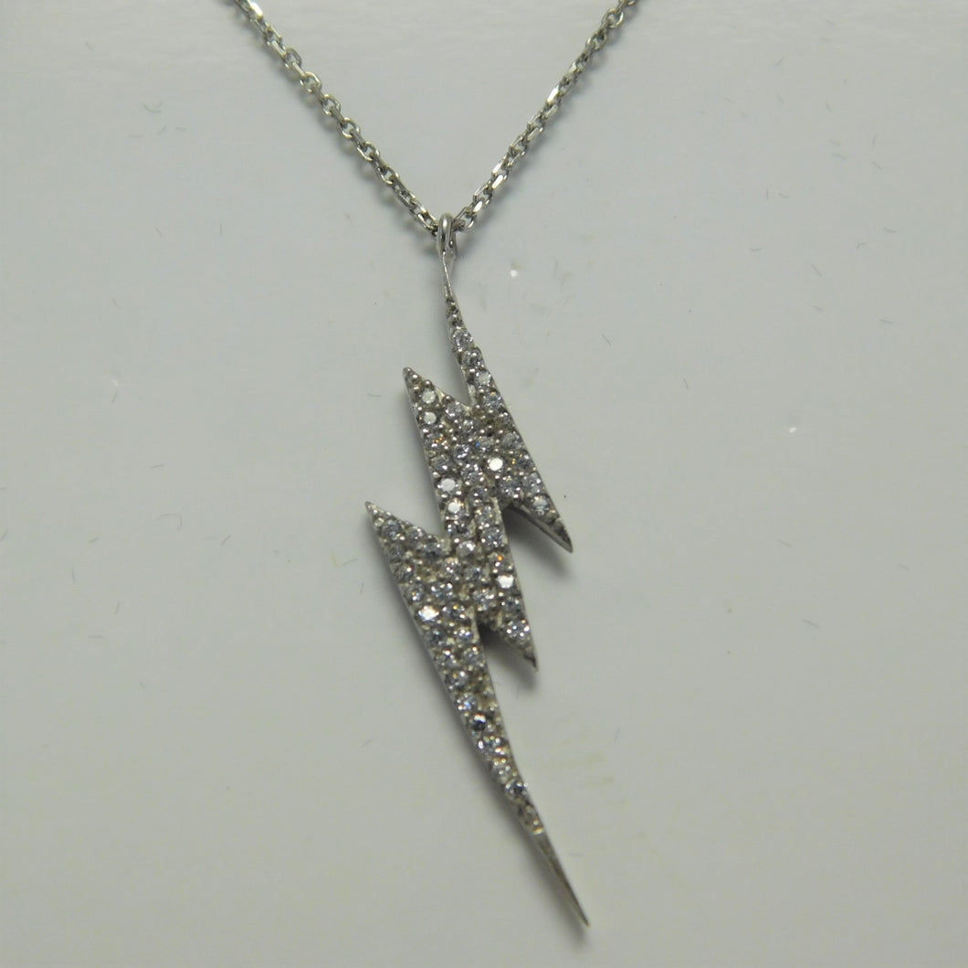 Sterling Lightning Bolt SC Necklace
