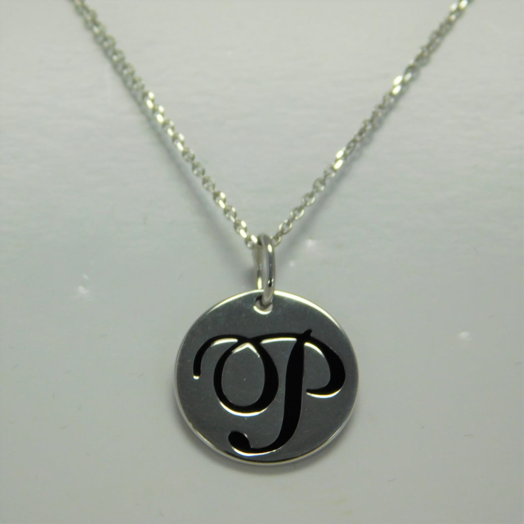 Sterling Initial P SC Necklace