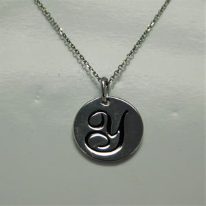 Sterling Initial Y SC Necklace