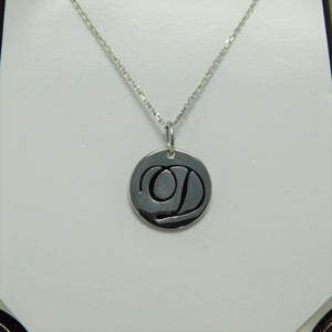 Sterling Silver Initial D SC Necklace