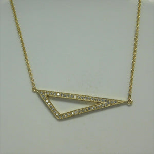 Sterling Silver Vermeil  Geometric Design SC Necklace