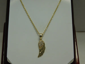 Sterling Silver Vermeil Angel Wing SC Necklace