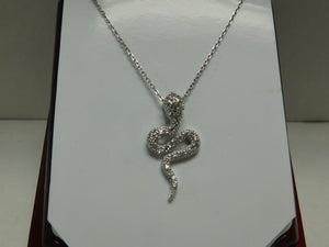 Sterling Silver Snake SC Necklace