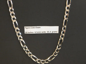20 Inch Solid Figaro Link Chain