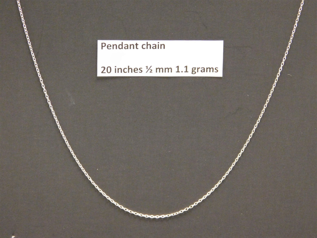 20 Inch Sterling Silver Pendant Chain
