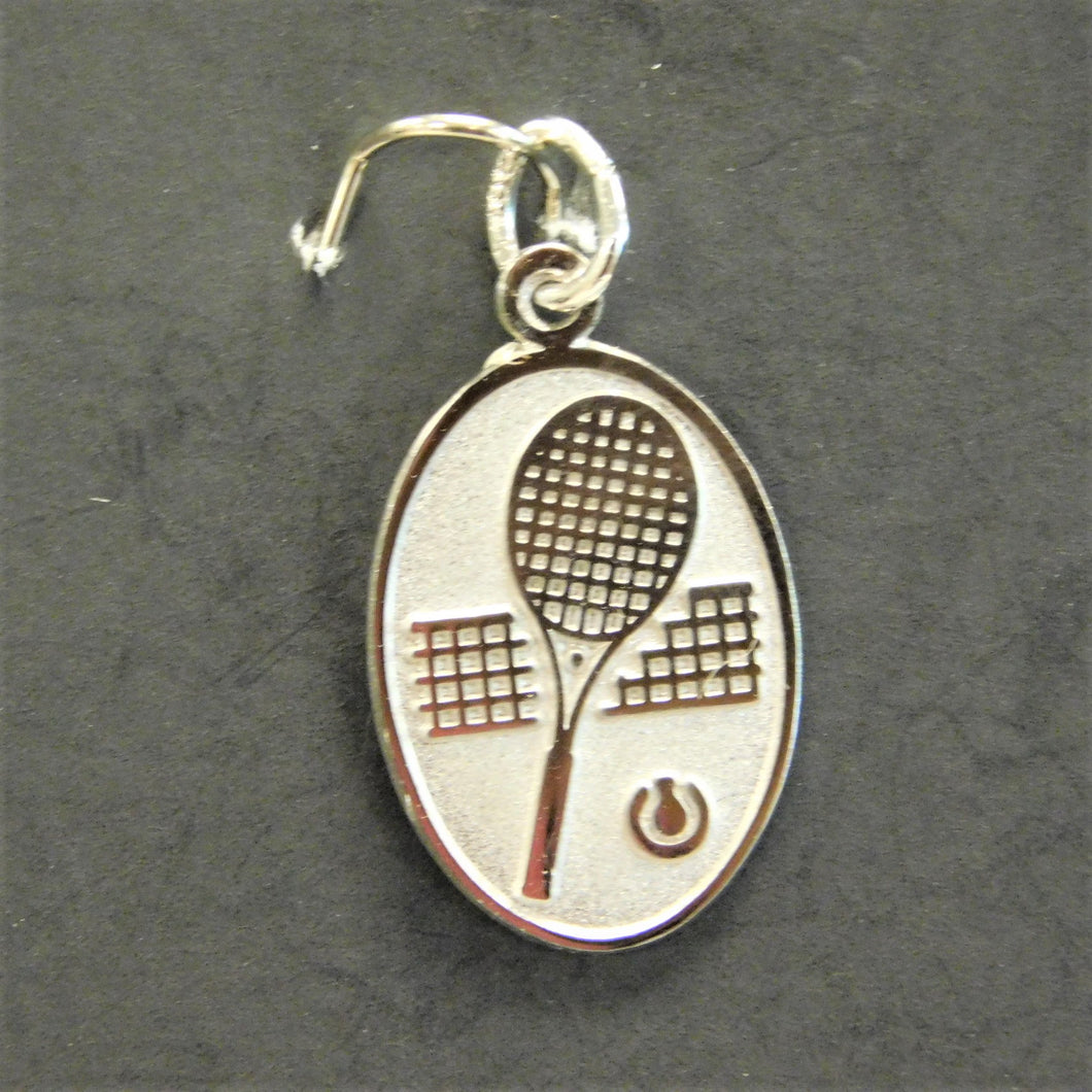 Sterling Silver Charm Tennis Racquet