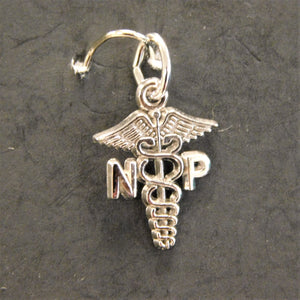 Sterling Silver Nurse Practitioner Charm