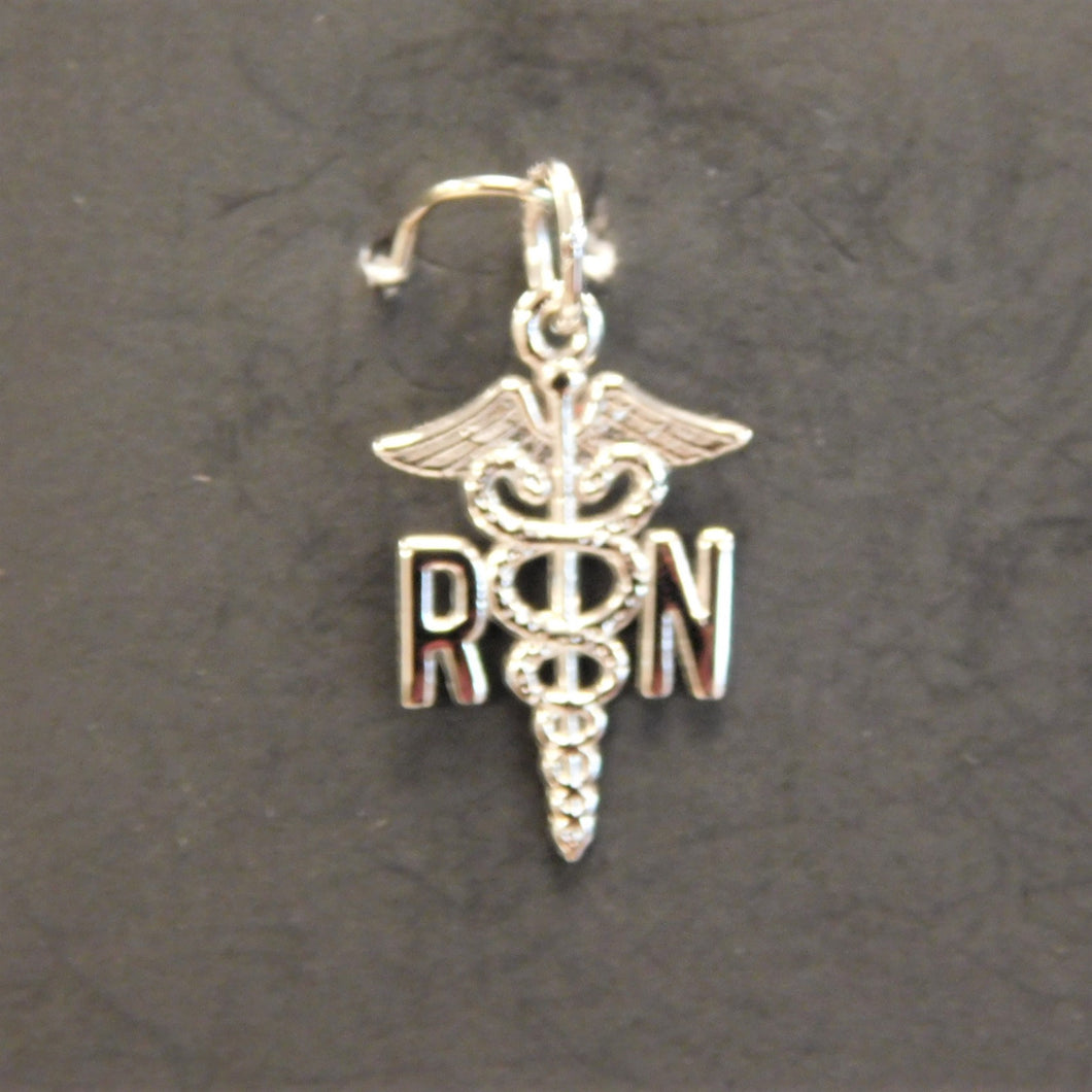 Sterling Silver Registered Nurse Charm