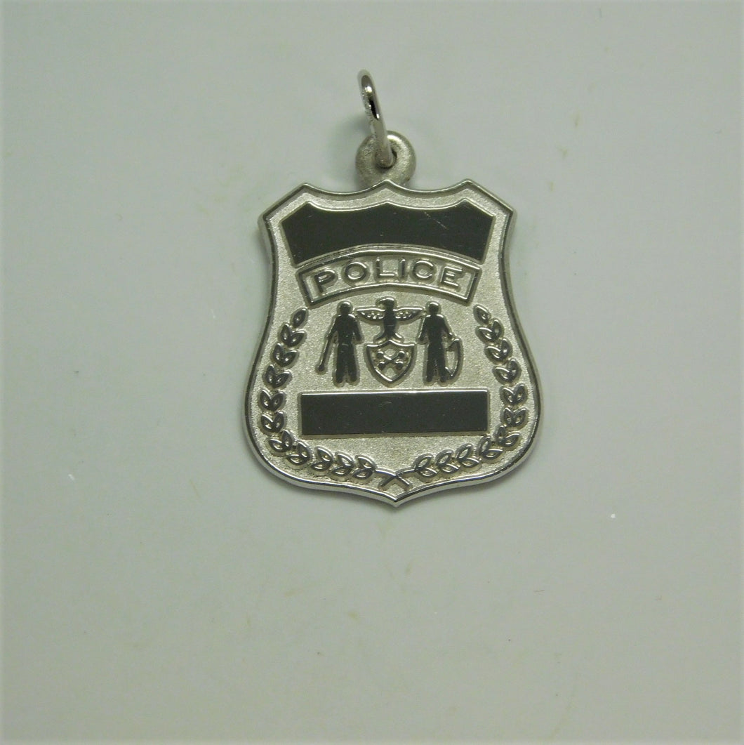 Sterling Silver Police Badge Charm