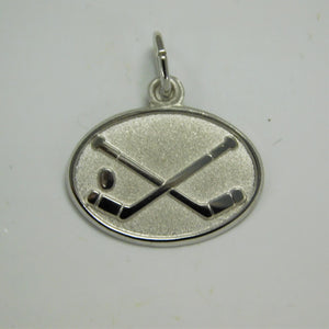 Sterling Silver Ice Hockey Charm