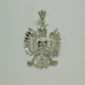 Sterling Silver Polish Eagle Charm