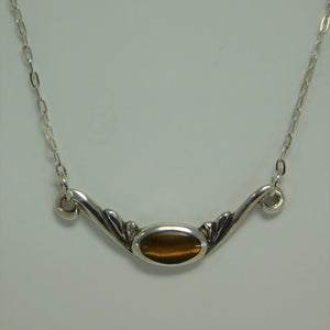 Sterling Silver Tiger's Eye SC Necklace