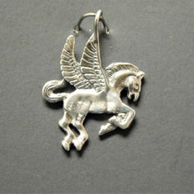 Load image into Gallery viewer, Sterling Silver Flying Horse Charm