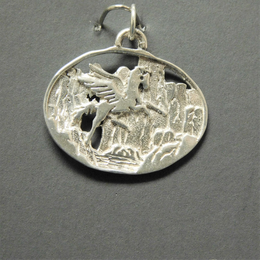 Sterling Silver Flying Horse Charm