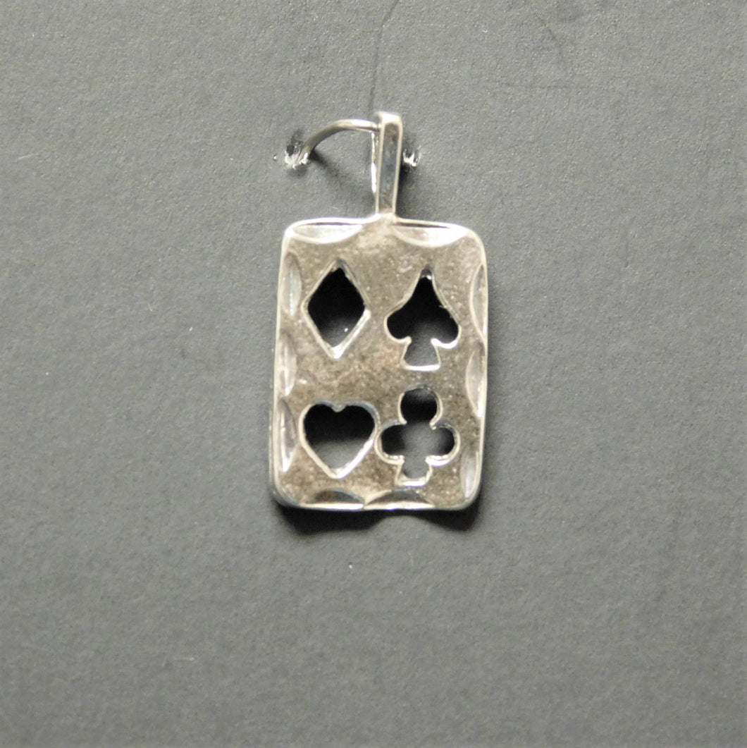 Sterling Silver Playing Card Charm