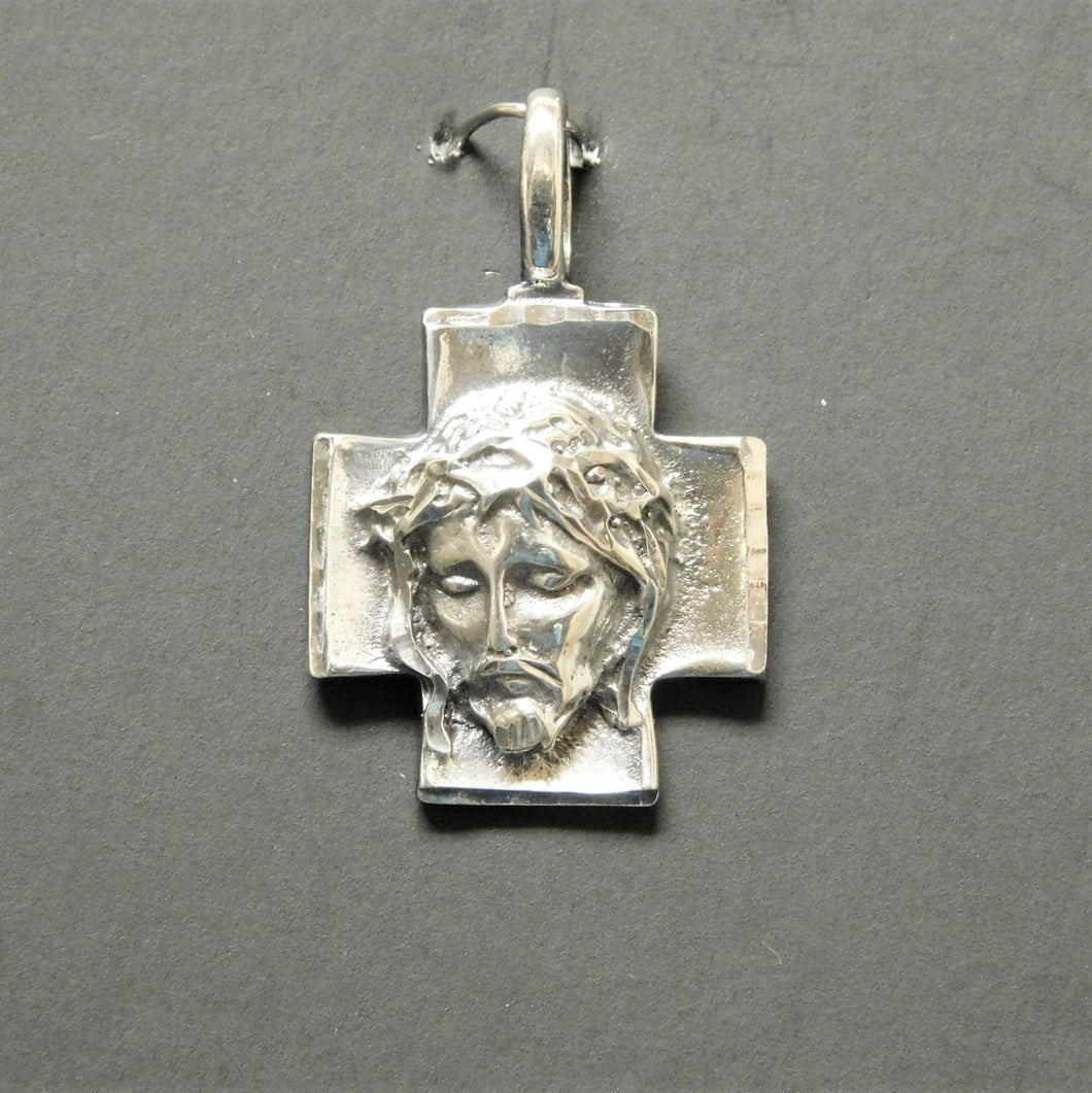 Sterling Silver Christ's Head Charm