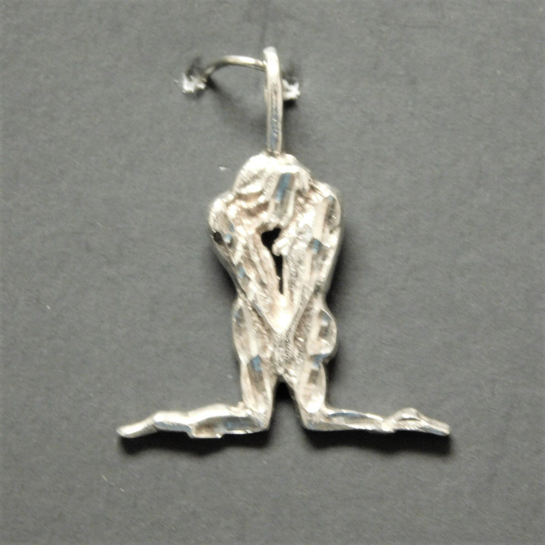 Sterling Silver Man/Woman Kneeling Charm