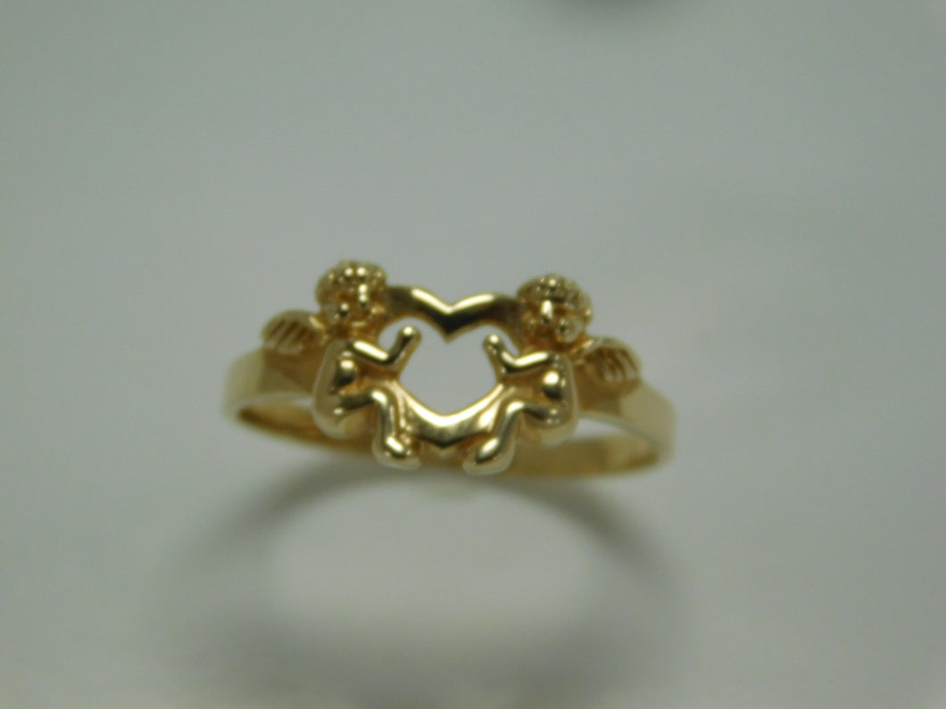 14K Yellow Gold Guardian Angels Ring