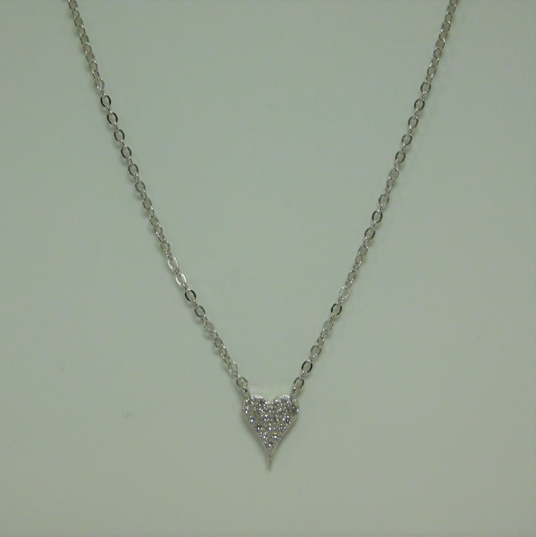 Sterling Silver Heart SC Necklace