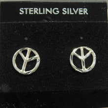 Load image into Gallery viewer, Sterling Silver Peace Earrings