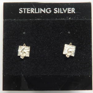 Sterling Silver Music Note Earring