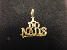 "Load image into Gallery viewer, 14K Gold Charm""I Do Nails"""