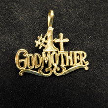 Load image into Gallery viewer, 14K Gold Charm '#1 Godmother'