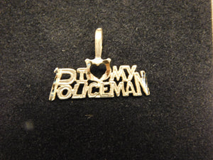 14K Gold Charm 'I Love My Policeman'