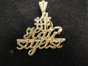 14K Gold '#1 Hairstylist' Charm